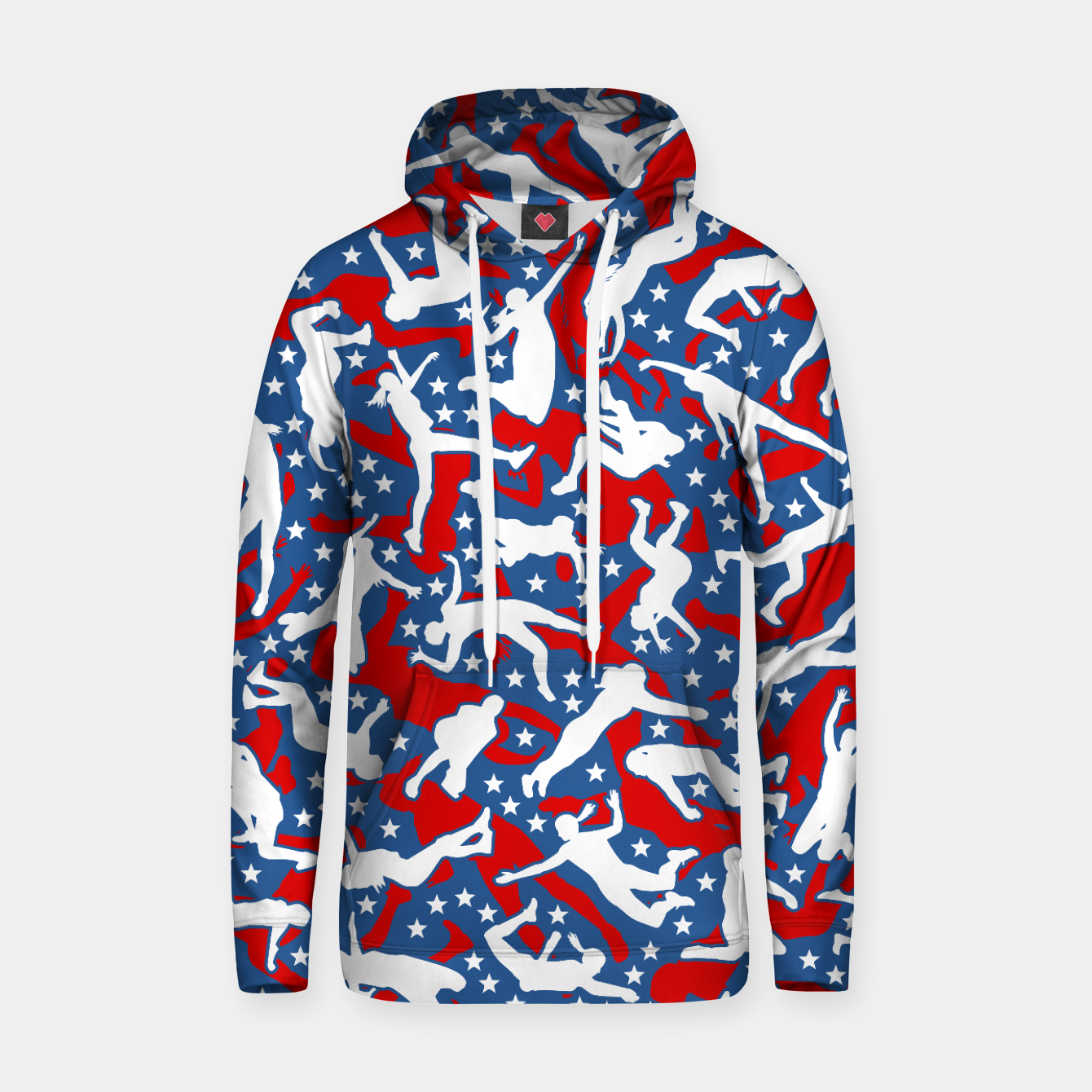 Image of Volleyball Player USA American Flag Camo Camouflage Pattern Hoodie - Live Heroes