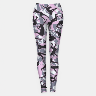 Miniatur Volleyball Player Camo Camouflage Pattern Pink Leggings, Live Heroes