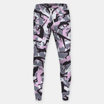 Miniatur Volleyball Player Camo Camouflage Pattern Pink Sweatpants, Live Heroes