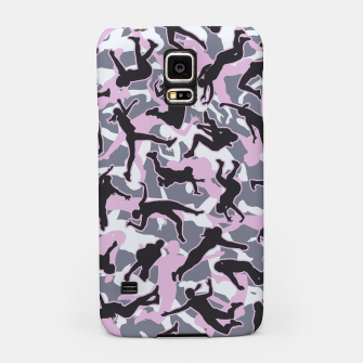 Miniatur Volleyball Player Camo Camouflage Pattern Pink Samsung Case, Live Heroes