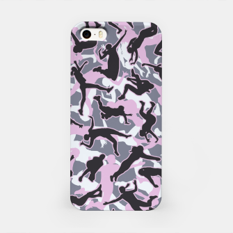 Miniatur Volleyball Player Camo Camouflage Pattern Pink iPhone Case, Live Heroes