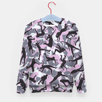 Miniatur Volleyball Player Camo Camouflage Pattern Pink Kid's sweater, Live Heroes