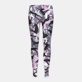 Miniatur Volleyball Player Camo Camouflage Pattern Pink Girl's leggings, Live Heroes
