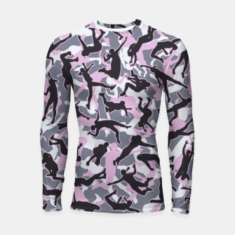 Miniatur Volleyball Player Camo Camouflage Pattern Pink Longsleeve rashguard , Live Heroes