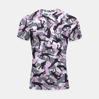 Miniatur Volleyball Player Camo Camouflage Pattern Pink Shortsleeve rashguard, Live Heroes