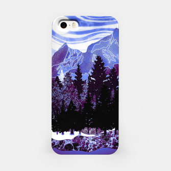 Thumbnail image of purple mountains iPhone Case, Live Heroes
