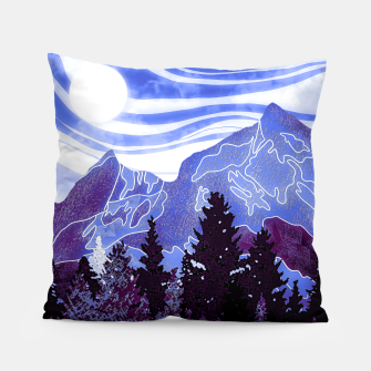 Thumbnail image of purple mountains Pillow, Live Heroes