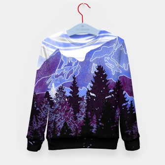 Thumbnail image of purple mountains Kid's sweater, Live Heroes