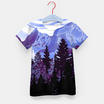 Thumbnail image of purple mountains Kid's t-shirt, Live Heroes