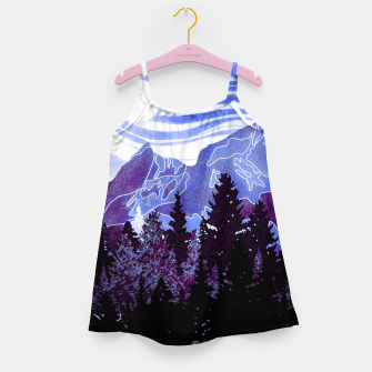 Thumbnail image of purple mountains Girl's dress, Live Heroes