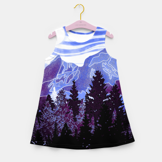 Thumbnail image of purple mountains Girl's summer dress, Live Heroes