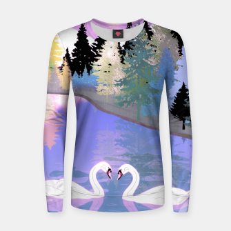 Thumbnail image of Swans  Women sweater, Live Heroes