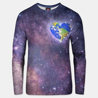 Thumbnail image of Heart o Milkyway  Unisex sweater, Live Heroes