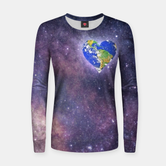 Thumbnail image of Heart o Milkyway  Women sweater, Live Heroes