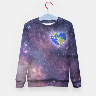 Thumbnail image of Heart o Milkyway  Kid's sweater, Live Heroes