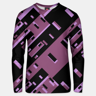 Miniatur Purple Dark Geometric Shapes Pattern Unisex sweater, Live Heroes