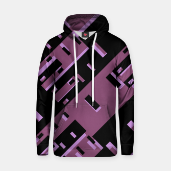 Miniatur Purple Dark Geometric Shapes Pattern Hoodie, Live Heroes