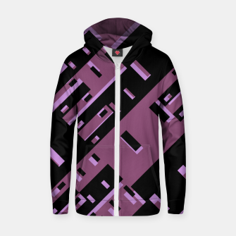Miniatur Purple Dark Geometric Shapes Pattern Zip up hoodie, Live Heroes