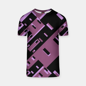 Miniatur Purple Dark Geometric Shapes Pattern T-shirt, Live Heroes