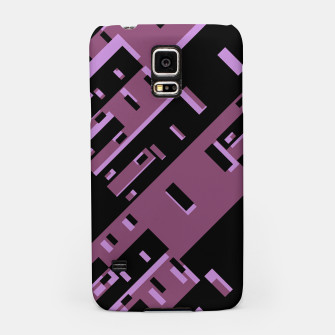Miniatur Purple Dark Geometric Shapes Pattern Samsung Case, Live Heroes