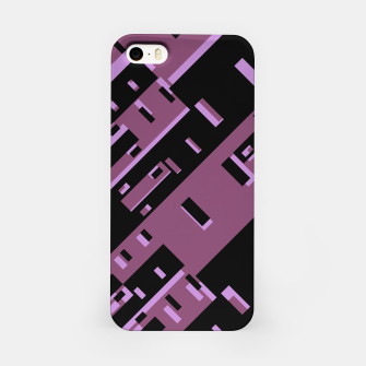 Miniature de image de Purple Dark Geometric Shapes Pattern iPhone Case, Live Heroes
