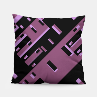 Miniatur Purple Dark Geometric Shapes Pattern Pillow, Live Heroes