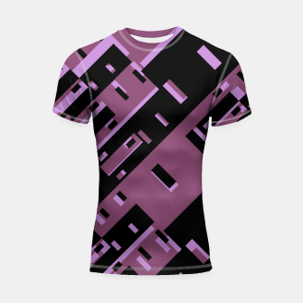 Miniatur Purple Dark Geometric Shapes Pattern Shortsleeve rashguard, Live Heroes
