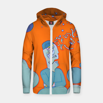 Thumbnail image of Mind Zip up hoodie, Live Heroes