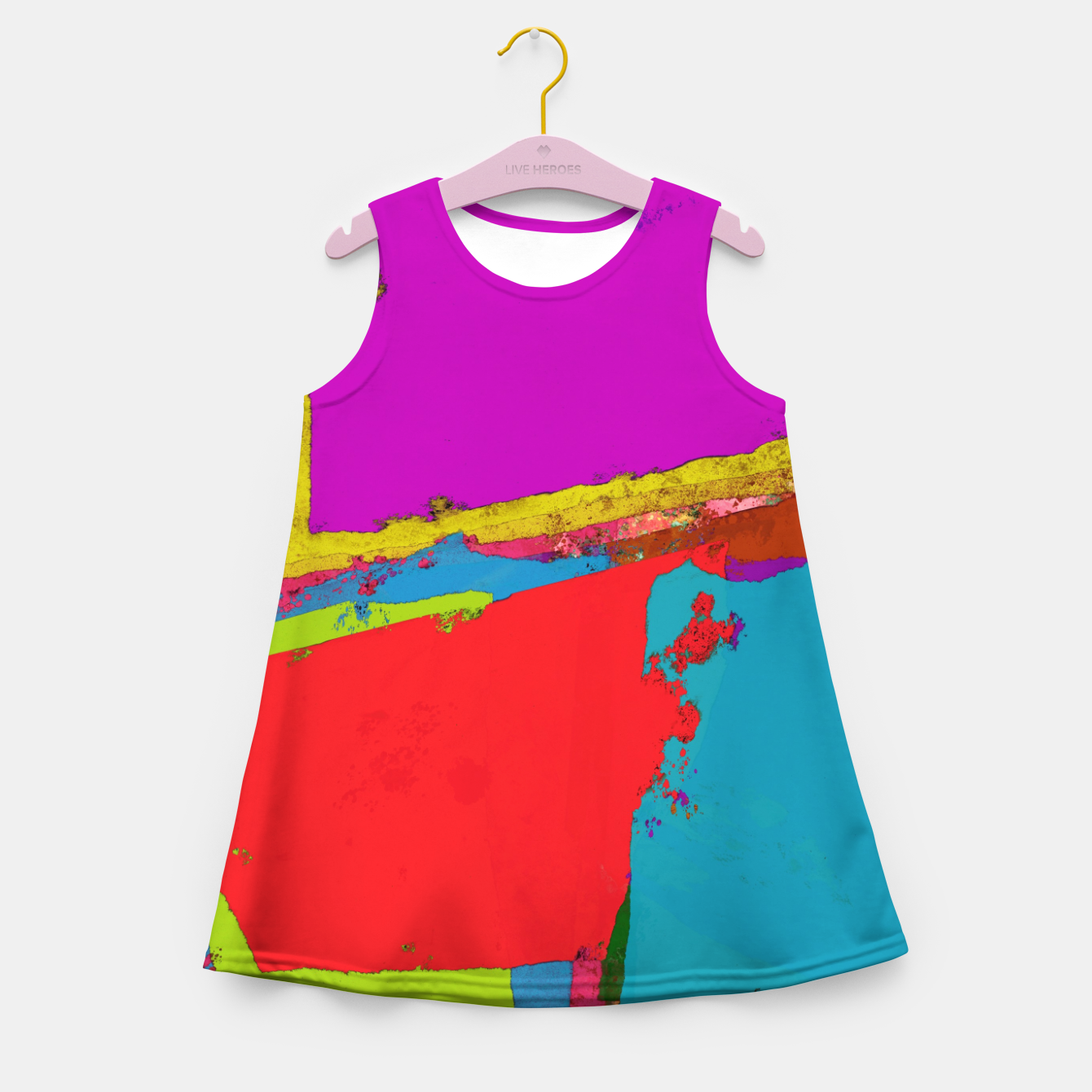 Image of Panel time Girl's summer dress - Live Heroes