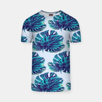 Miniaturka Blue green Monstera  Camiseta, Live Heroes