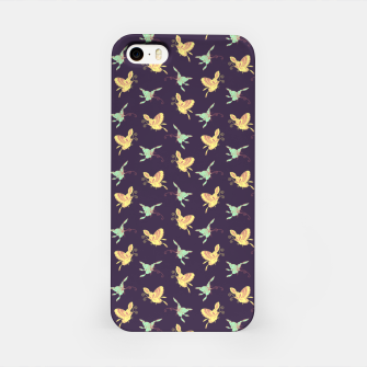 Night flyers, cartoon butterflies pattern, wildlife nature print iPhone Case thumbnail image