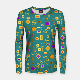 Thumbnail image of Retro Mod Shapes Women sweater, Live Heroes
