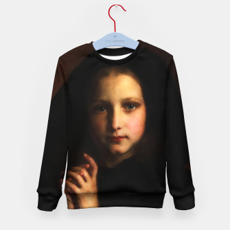 Thumbnail image of Femme Dans Un Manteau by Adolphe Piot Kid's sweater, Live Heroes