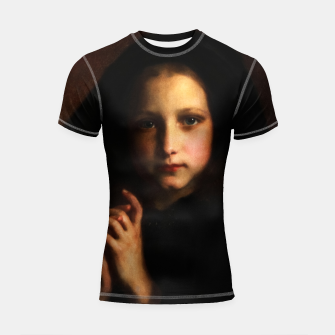 Thumbnail image of Femme Dans Un Manteau by Adolphe Piot Shortsleeve rashguard, Live Heroes