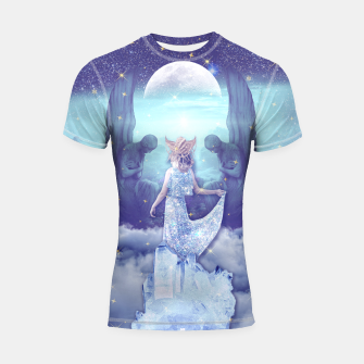 Thumbnail image of THE HIGH PRIESTESS TAROT CARD Shortsleeve rashguard, Live Heroes