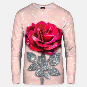 Thumbnail image of GLITTERY RED ROSE Sudadera unisex, Live Heroes