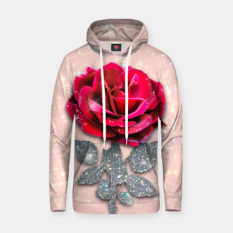 Thumbnail image of GLITTERY RED ROSE Sudadera con capucha, Live Heroes