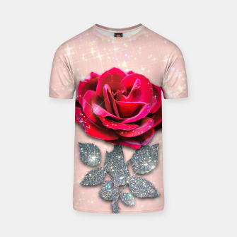 GLITTERY RED ROSE Camiseta thumbnail image
