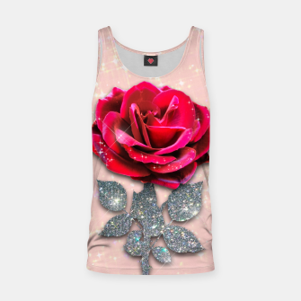 Thumbnail image of GLITTERY RED ROSE Camiseta de tirantes, Live Heroes