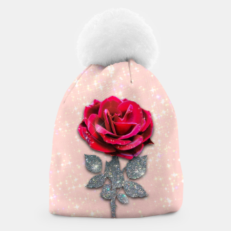 GLITTERY RED ROSE Gorro thumbnail image
