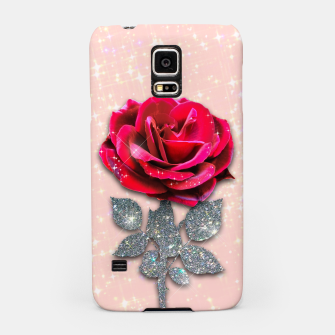 Thumbnail image of GLITTERY RED ROSE Carcasa por Samsung, Live Heroes
