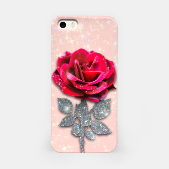 Thumbnail image of GLITTERY RED ROSE Carcasa por Iphone, Live Heroes