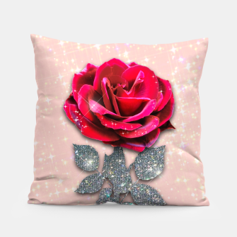 Thumbnail image of GLITTERY RED ROSE Almohada, Live Heroes