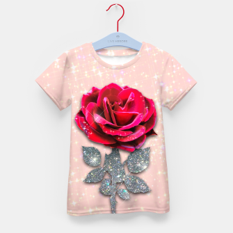 Thumbnail image of GLITTERY RED ROSE Camiseta para niños, Live Heroes