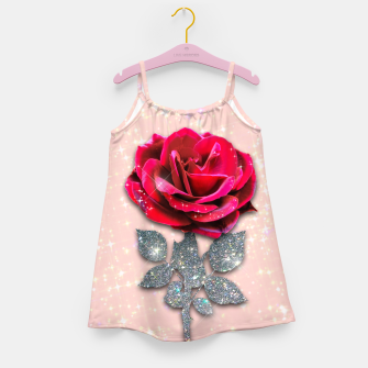 Thumbnail image of GLITTERY RED ROSE Vestido para niñas, Live Heroes