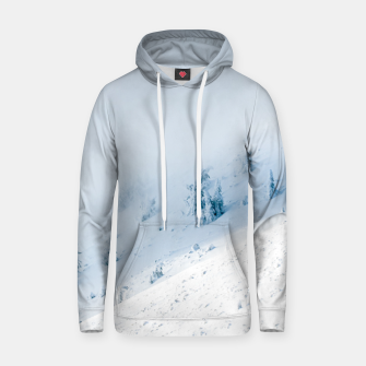 Frozen trees sun and clouds in the mountains Hoodie miniature