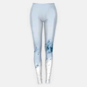 Frozen trees sun and clouds in the mountains Leggings miniature