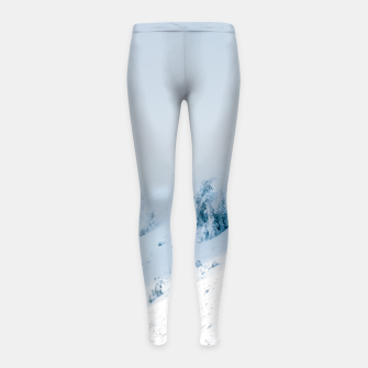 Miniature de image de Frozen trees sun and clouds in the mountains Girl's leggings, Live Heroes