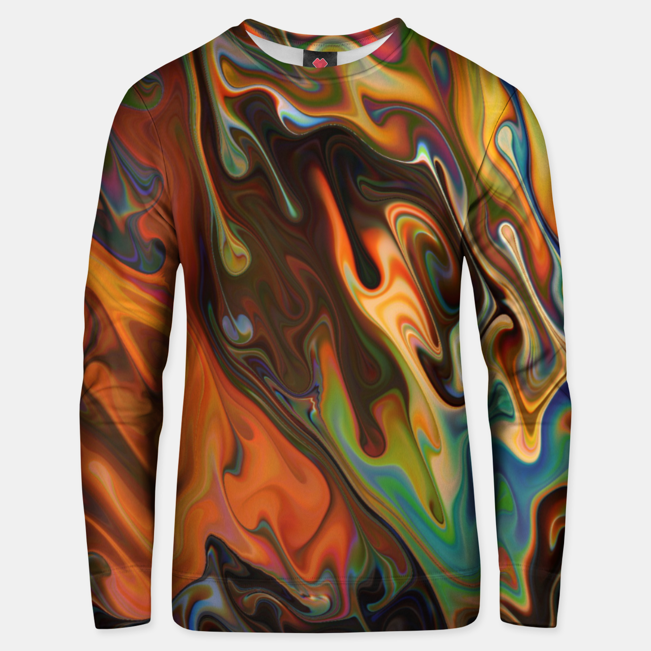 Image of Lost in the Flow Abstract Pattern Unisex sweater - Live Heroes
