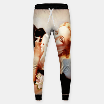Thumbnail image of Marlene Dietrich Poses For Alberto Vargas Pin-up Art Sweatpants, Live Heroes